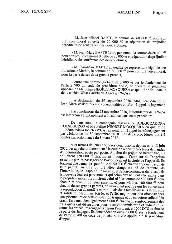 Indemnisation West Carribean Airways : Jugement du TGI de Fort-de-France en date du 30 septembre 2008 (4)