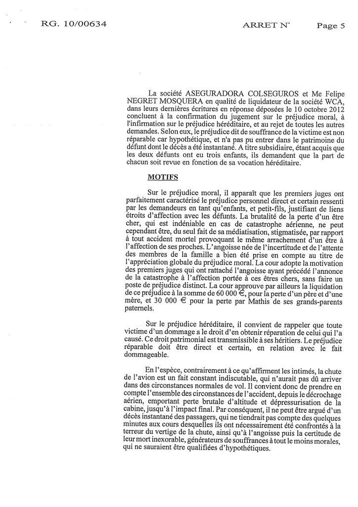 Indemnisation West Carribean Airways : Jugement du TGI de Fort-de-France en date du 30 septembre 2008 (5)