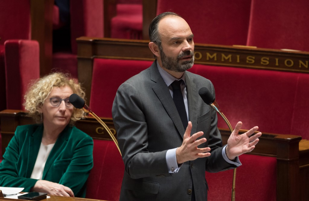 Prime Minister Edouard Philippe and Labour Minister Muriel Pénicaud © AFP